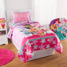 paw patrol puppy girls pink full comforter sheets 5 piece kids bed in a bag com