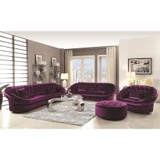 Buy Romanus Mid Century Modern Sectional Sofa Purple by Coaster