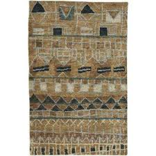 S Striation Natural Tan 4 Ft X 6 Area Rug