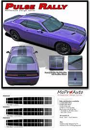 Dodge Challenger Pulse Rally Blacktop Stripes Strobe Hood