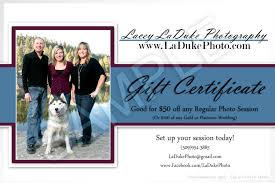 Photography Gift Certificate Template Photography Gift Certificates Eugene Laduke Photography