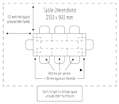 restaurant table sizes round dining size for 6 dimensions 8 dressing in cm average room s