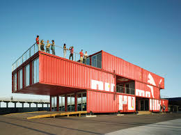Twenty-four shipping containers were retrofitted and transformed into Puma  City, a transportable retail and event venue that travels around the world.