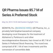 qr pharma inc qr pharma inc presents new data on posiphen in instagram