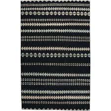 capel genevieve gorder scandinavian stripe ebony beige 4 ft x 6 ft area rug