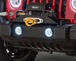 oracle lighting fog light kit with halo rings for 07 17 jeep wrangler jk