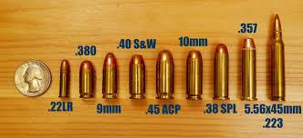 Pistol Bullet Size Chart Pistol Ammo Caliber Size Chart Best Picture Of Chart