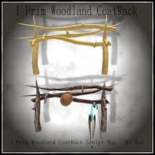 Woodland Coat Rack Second Life Marketplace Woodland Coat Rack BOXED 26