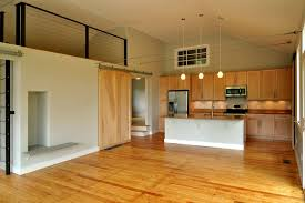 Grandiose Oak Wooden Unfinished Kitchen Barn Doors For Homes Added Triple  Hanging Lamps Over Kitchen Island Also Oak Cabinets In Open Space Kitchen  Views