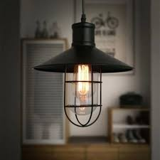 rustic pendant lights vintage style lamps metal lamp shade lighting linear suspension black fancy uk light