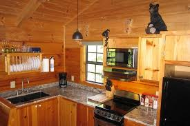 hot springs log cabins granite countertops and stainless steel appliances
