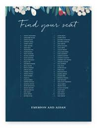 Wedding Seating Chart Minted