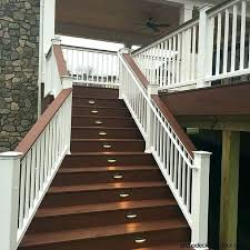 deck stair lighting ideas. Solar Lighting For Decks Deck Stair Lights Best Outdoor Ideas Porches Patios And . Step O
