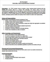 Database Analyst Job Description Research Analyst Job Description Sample 10 Examples In Word Df