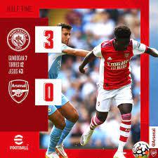 Arsenal - HT: Manchester City 3-0 ...