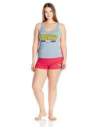 plus size short sets dc comics womens plus size wonder woman all day 2pc short set at