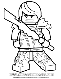 Lego Ninjago Zane Colouring Page Free Printable Coloring Pages