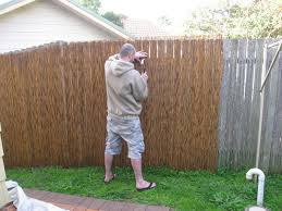 Install Bamboo Privacy Fence