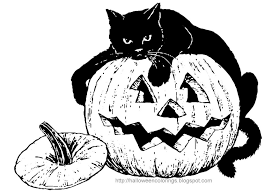Small Picture Coloring Pages Black Cat Printables Printable Template Page