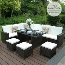 <b>Polyrattan Garden</b> & Patio <b>Furniture</b> Sets for sale | eBay