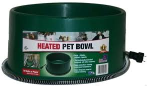 heated pet water dish electric dog cat bowl outdoor green gal . Heated Pet Water Dish Cat Bowl Amusing