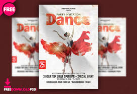 free dance flyer templates get free dance party template psd freedownloadpsd com