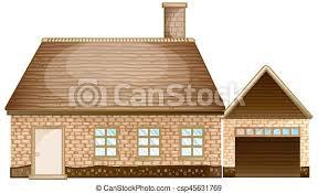 Baixe imagens e fotos de tijolo. Casa Tijolo Garagem Casa Tijolo Ilustracao Garagem Canstock