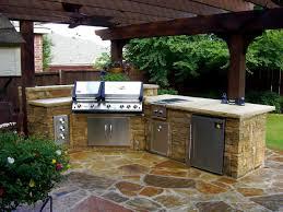 Stone Kitchen Kitchen Amazing Outdoor Kitchen Ideas With Beige Engineered