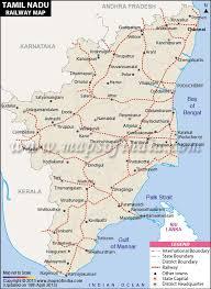 Indian Railway Route Chart Tamil Nadu Rail Network Map