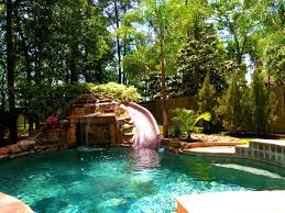 Bedroom Outstanding Pool Waterfalls Ideas Home And Interior