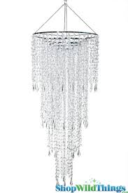 chandelier fifth avenue 4 tiers clear non iridescent 3 ft