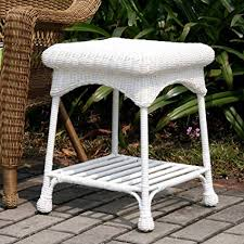 white wicker furniture. Exellent Wicker Wicker Lane Outdoor White Patio Furniture End Table For N