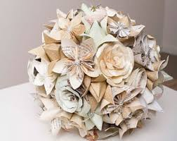 Paper Origami Flower Bouquet Paper Flower Bouquet Etsy