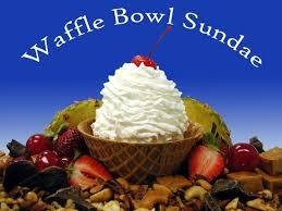 ice cream sundae waffle bowl. Homemade Ice Cream Waffle Bowl Sundae On