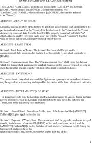 Sample Commercial Lease Templates   Download Free & Premium ...