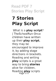 We have theater scripts for every type of audience and any venue. 2