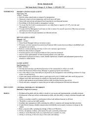 Sales Agent Resume Samples Velvet Jobs