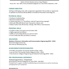 Wonderful Format Of Resume Philippines In Resume Templates You Can