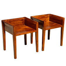of 2 Contemporary Solid Mango Wood Low Back Chairs