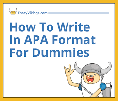 how to write in apa format for dummies com