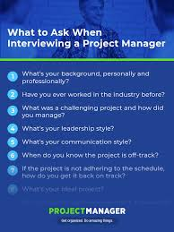 Good Questions To Ask The Interviewer The 23 Best Project Manager Interview Questions