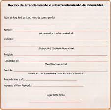 Formato De Recibos Ejemplo De Recibo De Arrendamiento