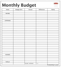 budget spreadsheet printable spreadsheet for budgeting monthly printable monthly budget er