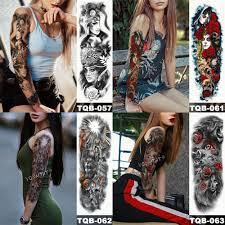 большой рукав татуировки японский гейша змея водонепроницаемый временные татуировки наклейки Lotus павлин девушка тату боди арт женщины
