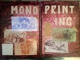 gcse art book background ideas mono printing force heart art