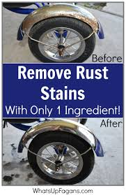 How To Clean Rust Stains How To Remove Rust From A Bicycle