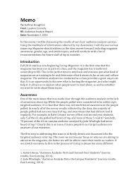 audience analysis example audeince analysis