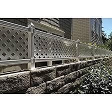 vinyl lattice fence panels. W White Modular Vinyl Lattice Fence Panel ( Panels I