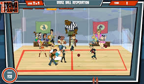 cartoon network total drama island dodgeball games