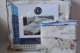 Authentic Kids Airplane Vintage Planes Twin Quilt Sham Set Blue ... & Authentic Kids Airplane Vintage Planes Twin Quilt Sham Set Blue Plaid Adamdwight.com